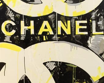 Large Chanel Art Original Painting on Canvas by Matt Pecson MADE TO ORDER Chanel Painting Chanel Home Decor Large Wall Art