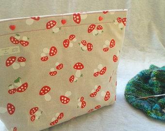 Large Project bag, Stricktsche, handbag, Projectbag, knitting bag