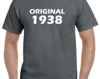 80th Birthday Shirt Gift-Original 1938