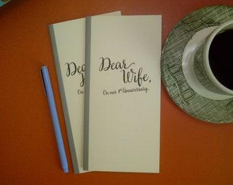 1st Anniversary // Dear Wife On Our 1st Anniversary Journal // Staple Bound Journal