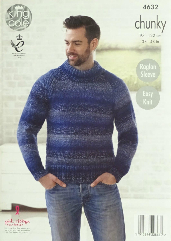Womens Knitting Pattern K4632 Ladies Easy Knit Long Sleeve Round ...