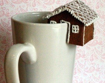 CUSTOM LISTING for Wendy Pearson  - 12 Mini Gingerbread Teacup Houses