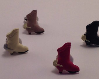 Set of 4 western boot button covers. Each is a different color.