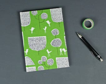 Green black Notebook, Travel diary, Bullet Journal, note book, Diary, Fabric-related notebook, notebook, bright green