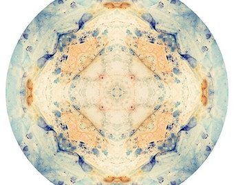 Mandala Print, Abstract Art, Photo Mandala Print, Sacred Geometry, Meditation Art, Peaceful Wall Decor, Meditation Wall Art