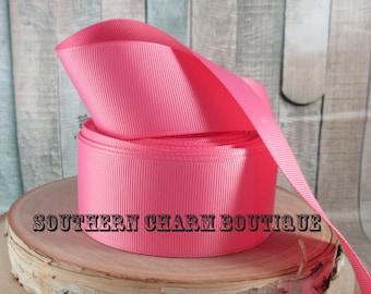 """3 yards of 1 1/2"""" pink grosgrain ribbon"""