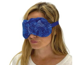 Aromatherapy Eye Pillow, Eye Pack, Cold Packs, Eye Mask. Migraine and Headache Relief, Tired Eyes Relief, Itchy Eye Relief. Blue Flowers