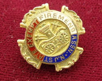 NJ State Firemens ASSN Pin Badge