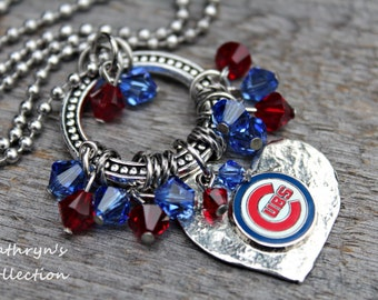 Chicago Cubs Necklace, Cubs Jewelry, Cubs Fan, Cubs Necklace, Cubs Jewelry, Cubs Gift