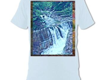 WATERFALL OCD Artswear T-Shirt Light Blue Onesided