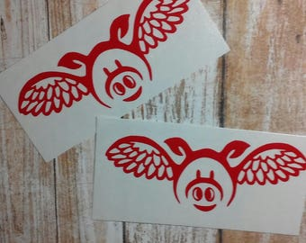 Flying Pig Decal/Pig Monogram /Pigs Fly /Decal/Flying Hog Decal/Pig/Hog/Swine/Flying Swine Decal/Flying Pig Sticker/Flying Hog/HTV Decal