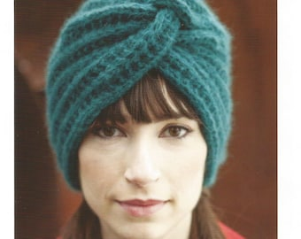 PDF Turban Hat Knitting Pattern