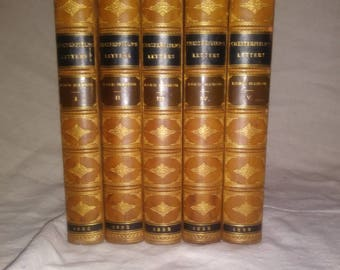1892 Chesterfiels's Letters in 5 volumes