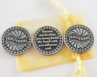 Set of 3 Brother Pocket Tokens with Organza Bag