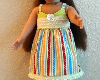 American Girl Striped Dress