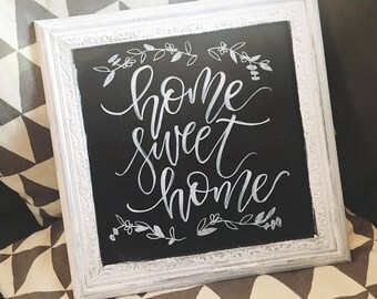 home decor sign chalkboard lettering piece art