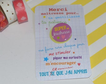 TEACHER card-card pink