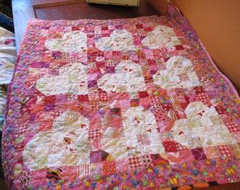 Pink Valentine Hearts quilt