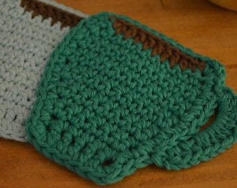 Cup Shaped Handmade Crochet Coaster Set