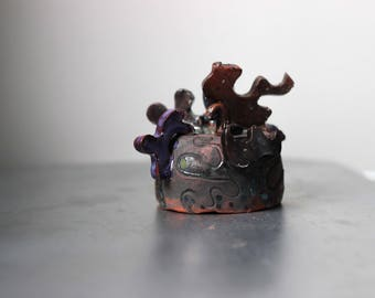 Wand-Dekor, Miniatur-Skulptur, rustikalen Stil, organische aussehen