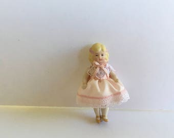 "Sweet Artits made 2 1/2"" Bisque doll"