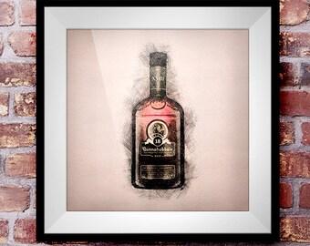 Bunnahabhain 18 - Crosshatch Whisky Wall Art