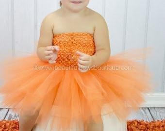 Fall Pumpkin Baby Tutu, Orange Baby Tutu, Halloween Newborn Tutu, Tulle Tutu Dress, Orange Pumpkin Tutu, Little Girl Tutu Skirt