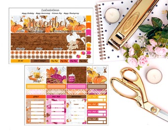 Fall II Monthly View Kit for your Erin Condren Life Planner/Happy Planner