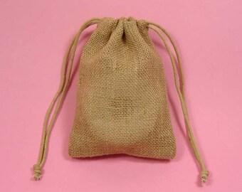 "40 3""x5"" Burlap Bags with Drawstring"