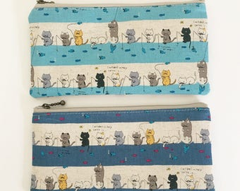 Flat  zipper pouch  -fishing (2 colours)