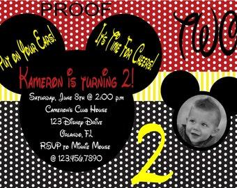 Mickey Inspired Photo Invitations