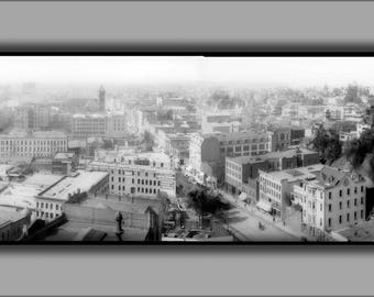 Poster, Many Sizes Available; Panoramic View Of Downtown Los Angeles, Looking South Between Spring Street And Broadway From The Courthouse,