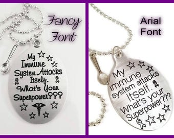 Lupus, Lupus Awareness, SLE, Crohns, Ulcerative Colitis, AutoImmune, ITP, Fibromyalgia, Spoon Theory, Superpower, Gift For Her, Gift For Him