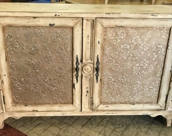 Shabby Chic Cabinet Console Table Or TV Stand