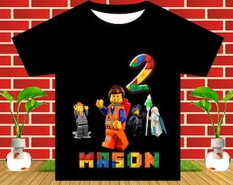 Lego Movie Iron On Transfer, Lego Movie Birthday Shirt DIY, Lego Movie Party, Lego Movie Printable, Personalize Name, Digital File
