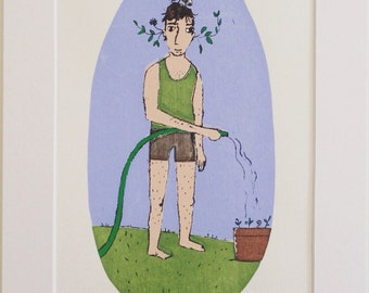 Plant boy - limited edition screen print