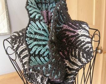 Brioche Knit Cowl / Hand Knit