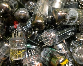 3 Vacuum Tubes for Art Projects, steampunk, sculpture, raw materials, glass, metal, diesel punk, apocalyptic, wasteland