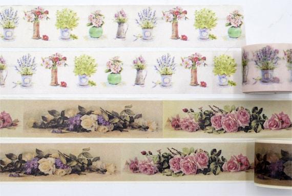 ausverkauf lgem lde blumen rose vase washi. Black Bedroom Furniture Sets. Home Design Ideas