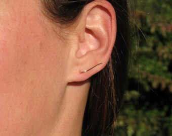 Minimalist climber earrings