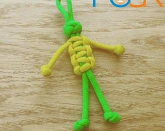 1x Paracord Buddy Keg Fob - PGUK - Zipper Pull - Kids Gift - 69 Colours - Paracord Person - Customise your Bag - Paracord Lanyard - Fun Gift