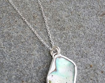 California Abalone Sterling Silver Necklace  *free shipping*
