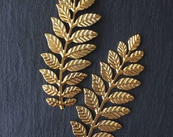 2 x Gold Fern Leaf Embellishments Pre-Order