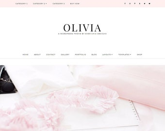 NEW! Olivia - Feminine WordPress Theme - Genesis Child Theme - SEO - Responsive - Static Front Page - Slider - Ecommerce - Portfolio - Blog