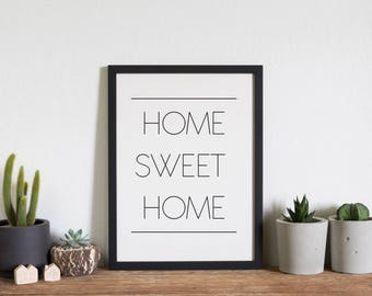 Home Sweet Home // Comes in black background and white background // 2 files