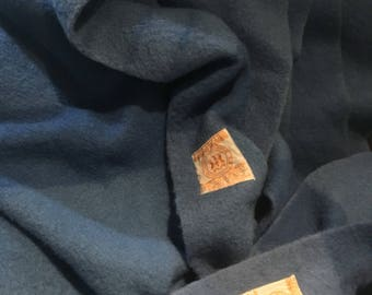 """Hudson's Bay 4 Point Uncut 180"""" x 70"""" Double Length Blue with Stripe Wool Blanket Antique Long"""