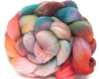 Hand Dyed Texel Wool 100g 3.5oz Combed Wool Top Spinning Yarn Felting Fibre  Tx99