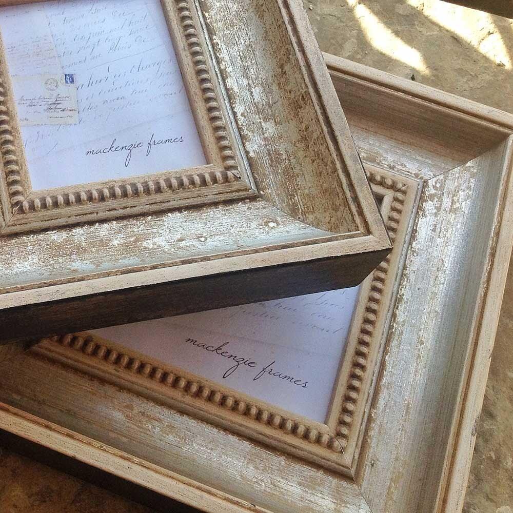 3x4 inch Antique Style Warm Silver Distressed Photo Frame/Wedding ...