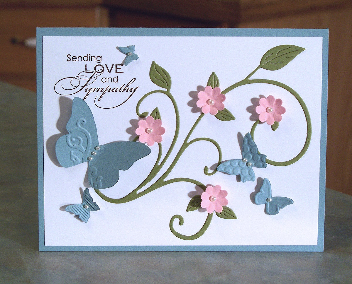 Handmade Card With Embossed Butterflies Stampin Up Sending