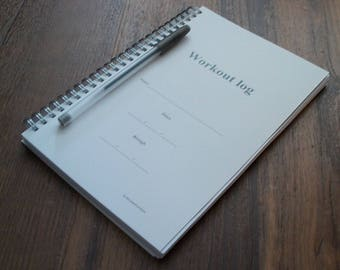 Huge workout log - track over a year of workouts! Price reduced!